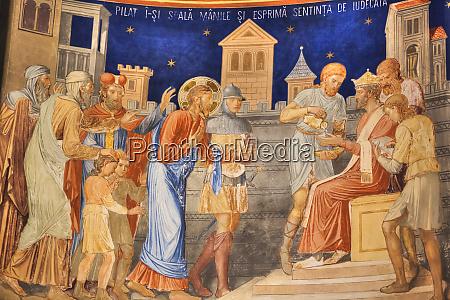 interior fresco st george church mirauti