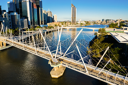 aerial view of the the brisbane