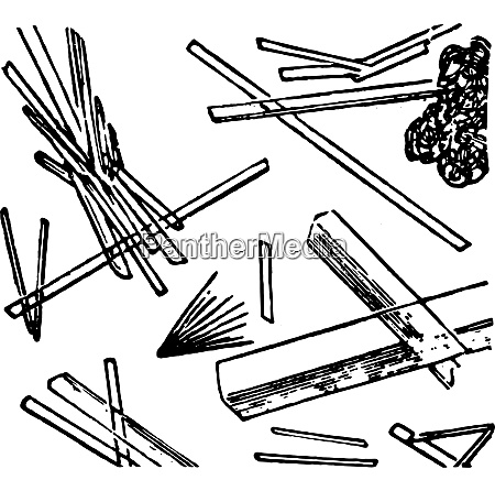 calcium sulphate elongated transparent needles or