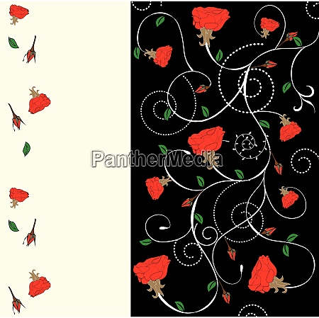 spring floral background with place for