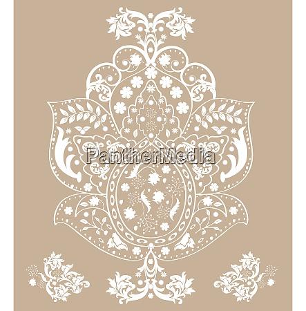 vintage background with ornate floral design