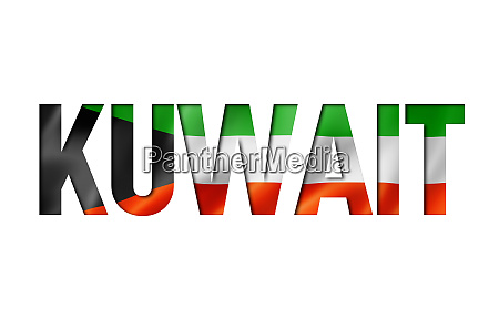 kuwait flag text font