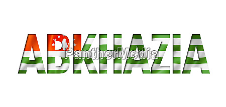 abkhazian flag text font