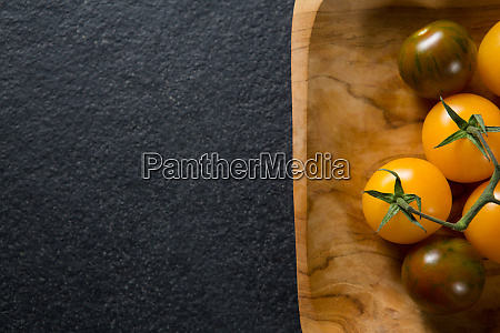 close up of cherry tomatoes in