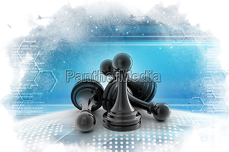 black pawns in color background