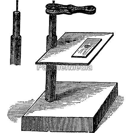 microscope simple vintage engraving