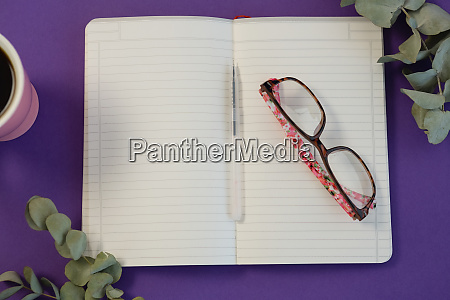 dry leaves black coffee pen spectacles