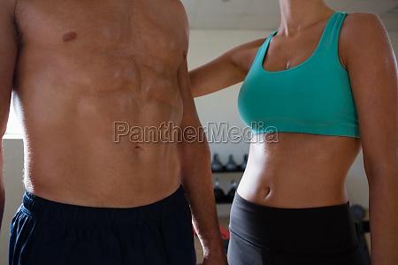 athletes muscular body