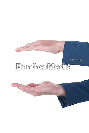 cropped hands of businessman marketing invisible