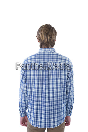 rear view of businessman with brown
