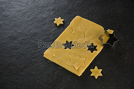 raw cookie dough with star shaped