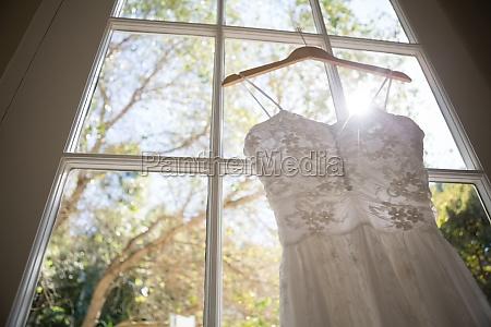low angle view of wedding dress