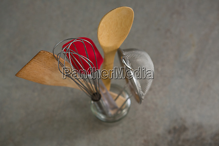 whisker wooden spoon strainer and spatula