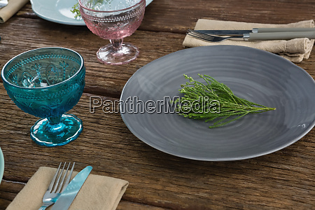 plates with napkin fork butter knife