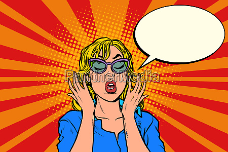 oops pop art surprised woman