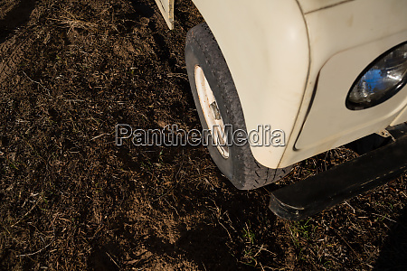 high angle view of vehicle on