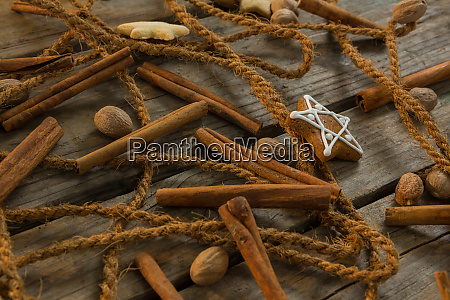 close up of rope with star