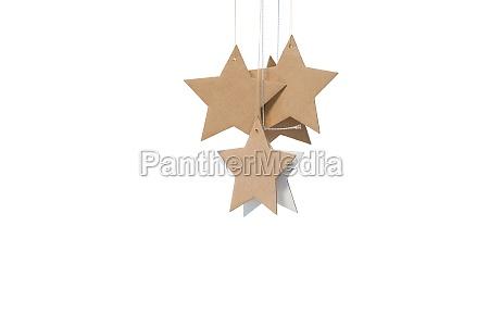star shape decorations on white background