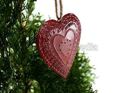 heart shape christmas decoration hanging on