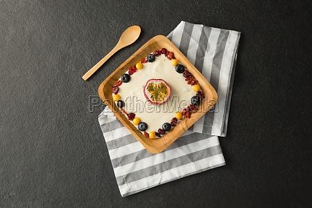healthy breakfast in plate