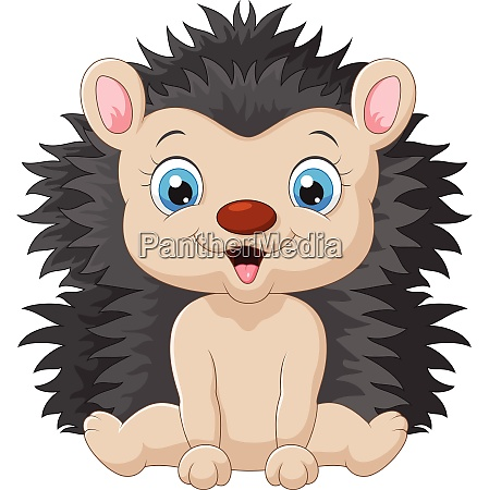 cartoon sweet hedgehog