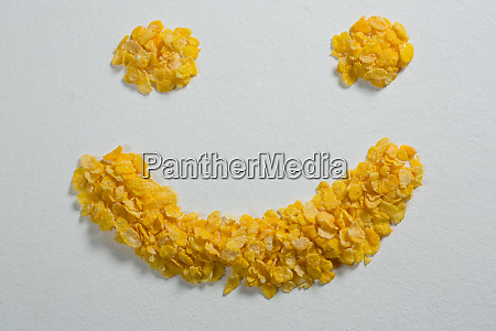 wheaties cereal forming a smiley face