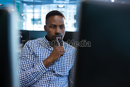 computer engineer working at desk