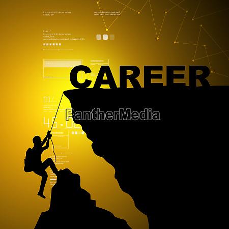 man climbing for career