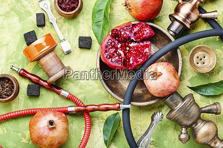 shisha hookah with pomegranate