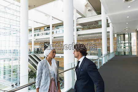 business people talking with each other