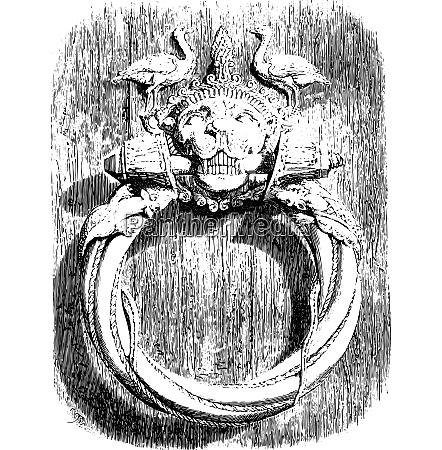 knocker of the main door of