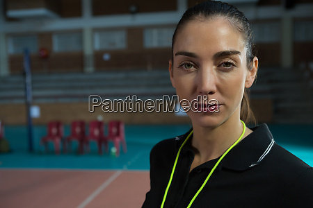 close up portrait of volleyball coach
