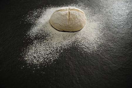high angle view of flour on
