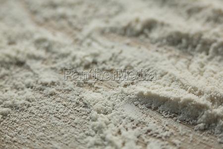 high angle view of flour