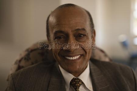 close up of senior man looking