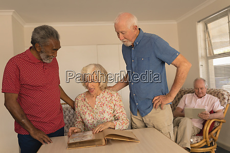 group of senior people interacting with