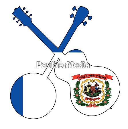 west virginia state flag banjo and