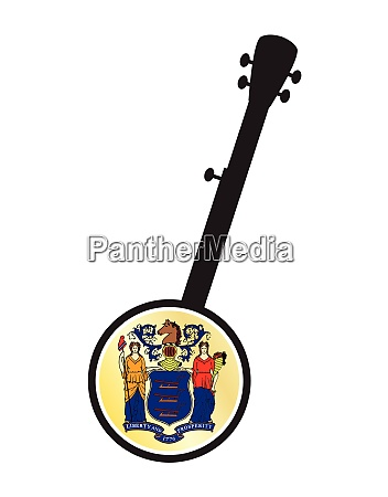 banjo silhouette with new jersey state