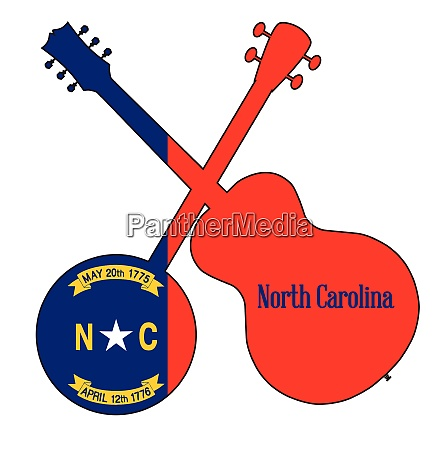 north carolina state flag banjo and