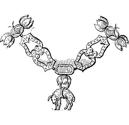 golden fleece vintage engraving