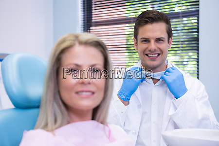 happy patient and dentist at