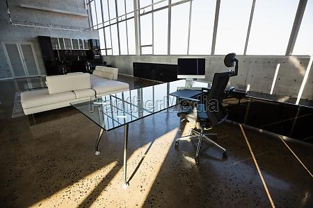interior of modern creative office