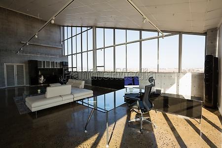 interior of empty creative office