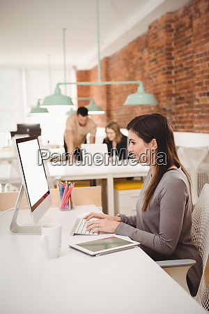 female executive working on computer