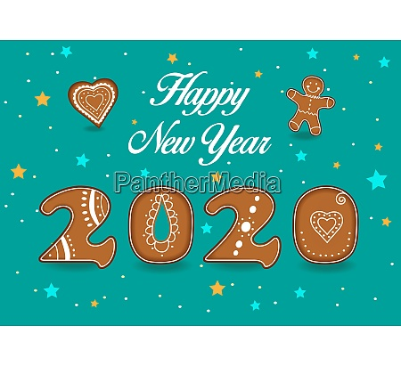 happy new year 2020 gingerbreads