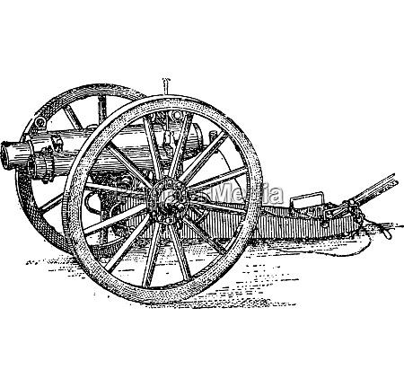 canon of the english artillery mountain
