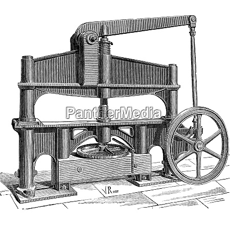 the machine used to process leather