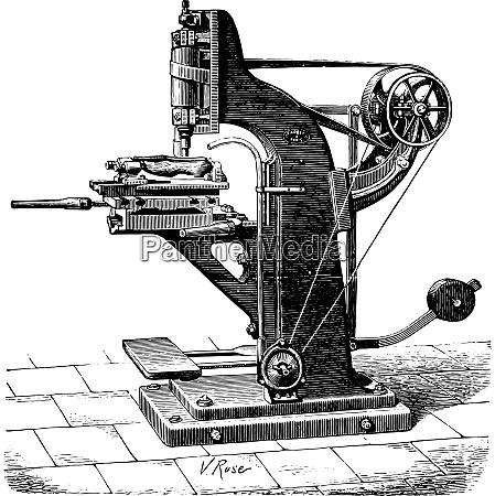shaping machine shoes vintage engraving