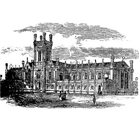 cheltenham college vintage engraving