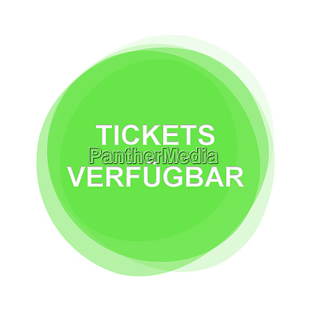 light green button tickets available german